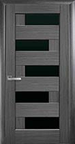 Межкомнатная дверь Пиана grey, стекло BLK